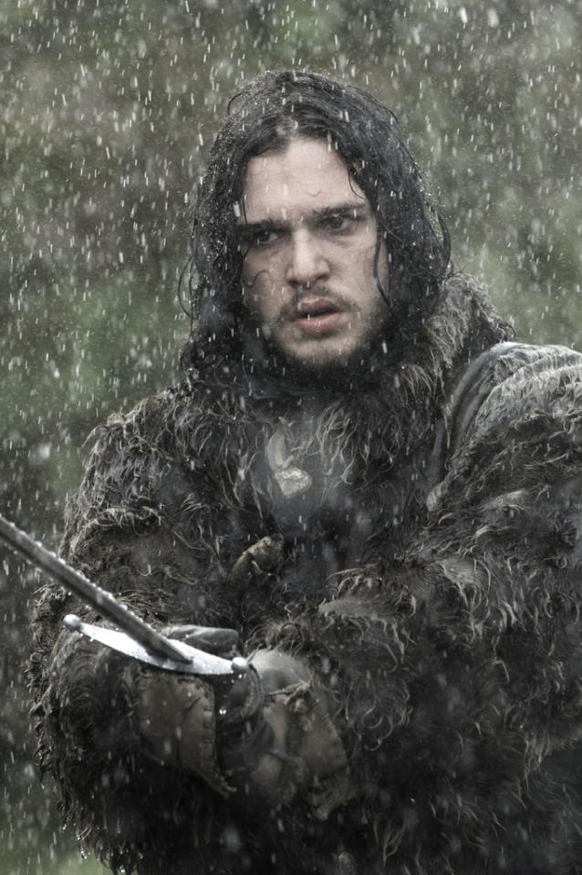 "Kit Harington in the ""Game of Thrones"" episode, ""The Rains of Castamere."""