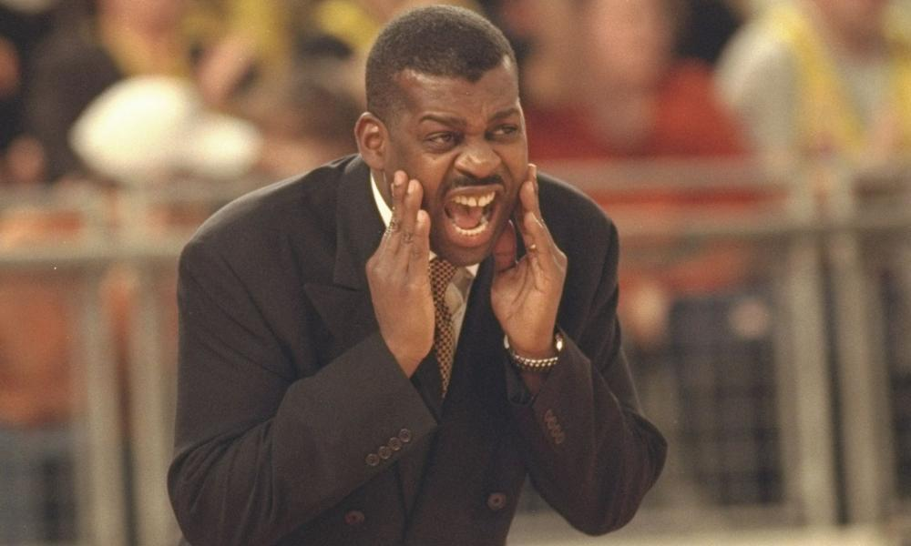 Kevin Cadle, coaching the London Towers in 1997.
