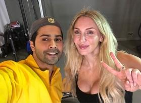 Watch video: Varun Dhawan teaches WWE Diva Charlotte Flair some desi dance moves