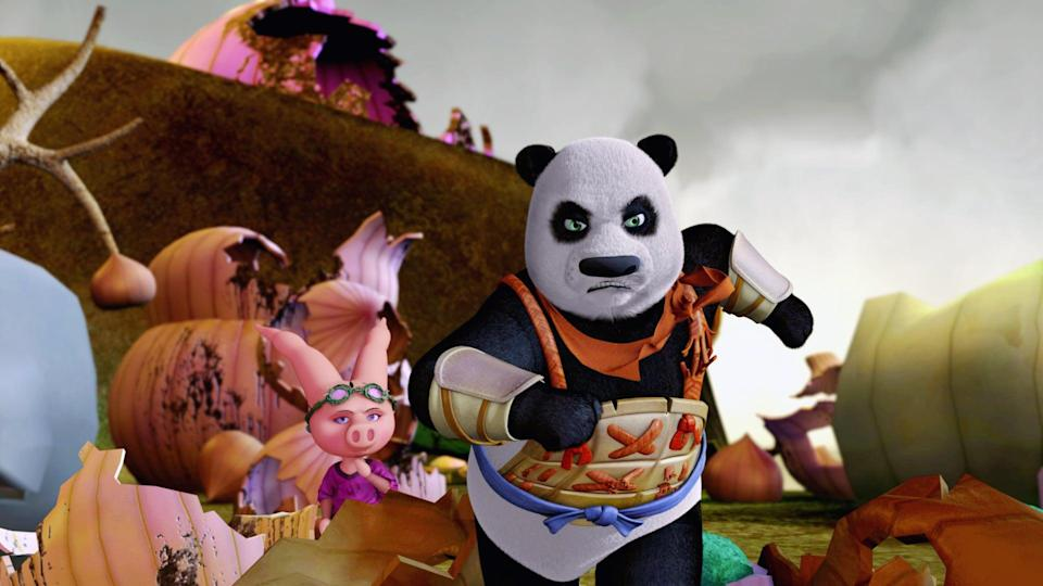 """<p><b>HBO Max's Description:</b> """"He's a whole new breed of warrior! A friendly panda must find his inner warrior after he suddenly finds himself in a supernatural world controlled by a diabolical nine-headed snake.""""</p> <p><a href=""""https://play.hbomax.com/feature/urn:hbo:feature:GXHHayQOze4BThwEAAAGM"""" class=""""link rapid-noclick-resp"""" rel=""""nofollow noopener"""" target=""""_blank"""" data-ylk=""""slk:Watch The Adventures of the Panda Warrior on HBO Max here!"""">Watch <b>The Adventures of the Panda Warrior</b> on HBO Max here!</a></p>"""
