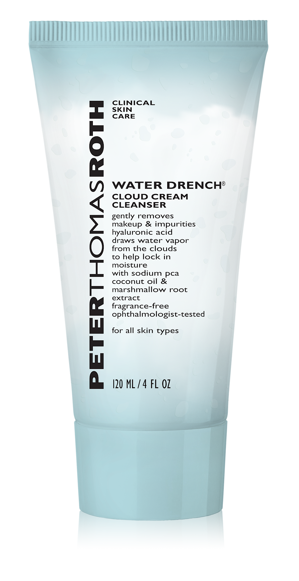"""<p><strong>— PAID —</strong></p><p>Some cleansers can be drying — but this isn't one of them. Featuring hyaluronic acid and natural coconut oil, this ultra-moisturizing makeup remover won't strip your skin of its natural oils. The best part? The creamy cleanser is fragrance-free, so it's safe for those with even the most sensitive skin.</p><p><strong>Peter Thomas Roth</strong> Water Drench Cloud Cream Cleanser, $28, available at <a href=""""http://seph.me/2wnVZxP"""" rel=""""nofollow noopener"""" target=""""_blank"""" data-ylk=""""slk:Sephora"""" class=""""link rapid-noclick-resp"""">Sephora</a>.</p>"""