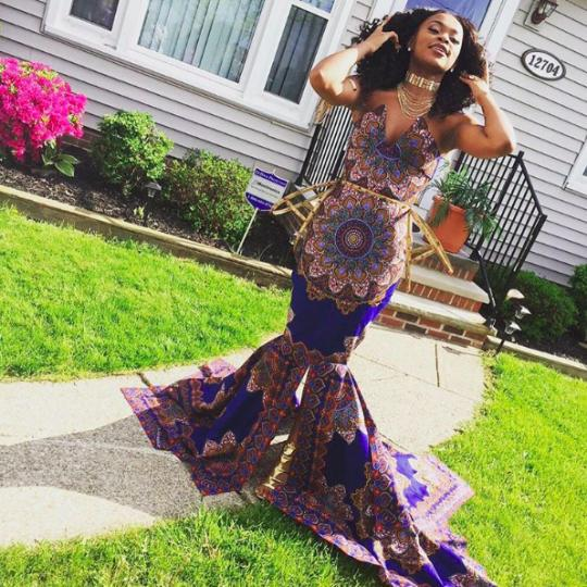 Girls African Themed Dress Called Tacky For Prom By Teacher
