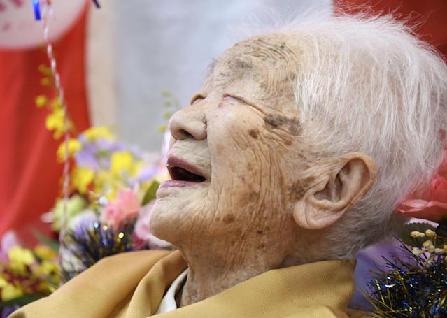 Kane Tanaka, the world's oldest person, was born in 1903. (Reuters)