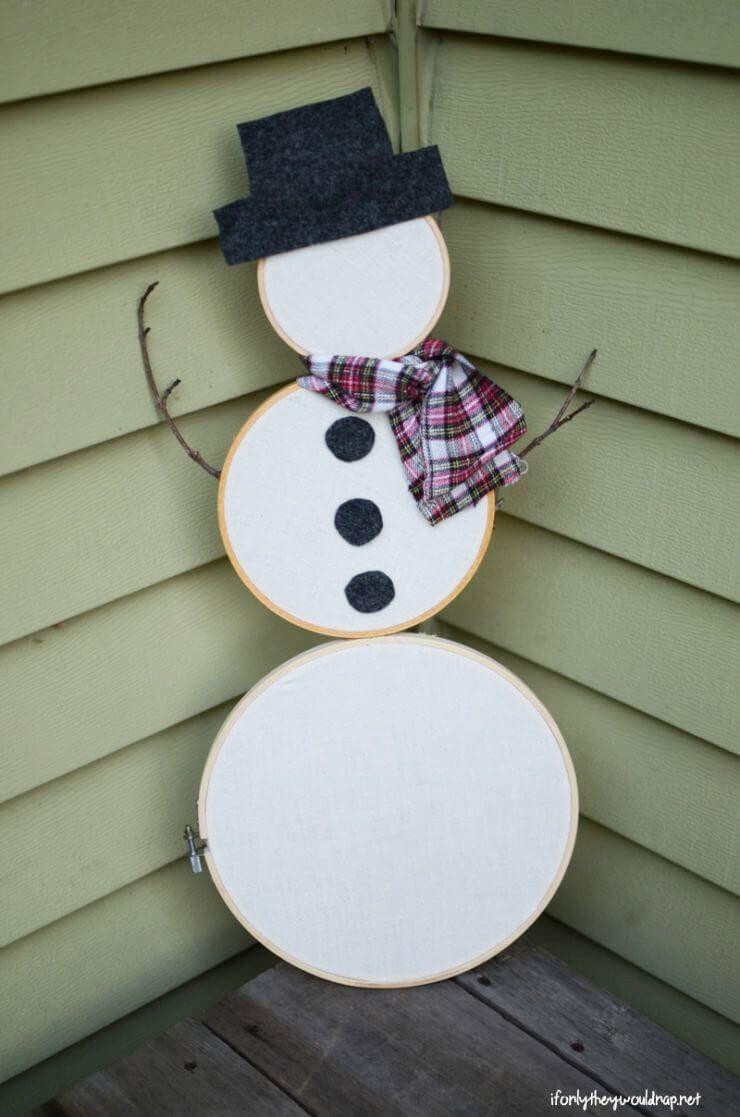 "<p>Use old or new hoops to put together this four-step craft.</p><p><strong>Get the tutorial at <a href=""https://ifonlytheywouldnap.net/2017/12/22/embroidery-hoop-snowman/"" rel=""nofollow noopener"" target=""_blank"" data-ylk=""slk:If They Only Would Nap"" class=""link rapid-noclick-resp"">If They Only Would Nap</a>.</strong></p><p><strong><a class=""link rapid-noclick-resp"" href=""https://www.amazon.com/Morgan-7-Inch-10-Inch-Stand-Combo/dp/B000A8AZJI?tag=syn-yahoo-20&ascsubtag=%5Bartid%7C10050.g.22825300%5Bsrc%7Cyahoo-us"" rel=""nofollow noopener"" target=""_blank"" data-ylk=""slk:SHOP EMBROIDERY HOOPS"">SHOP EMBROIDERY HOOPS</a><br></strong></p>"