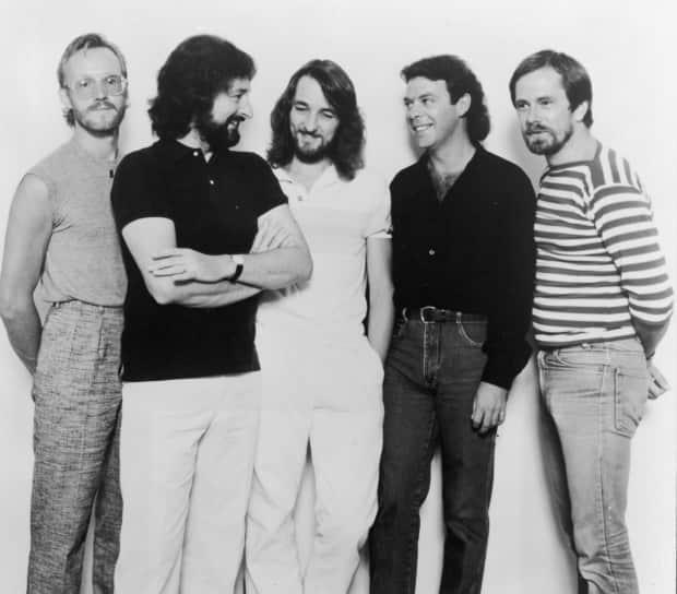 This is a promotional portrait of the rock band Supertramp, circa 1981. From left: John Helliwell, Rick Davies, Roger Hodgson, Bob Siebenberg and Dougie Thomson. This is the lineup of the band that was supposed to play in Halifax on July 31, 1979. (Hulton Archive/Getty Images - image credit)
