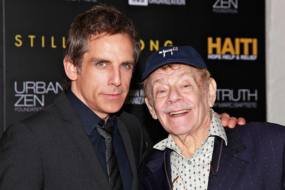 """<p>Over the years, Ben spoke highly about growing up with famous parents, <a href=""""https://people.com/movies/ben-stiller-reflects-final-days-dad-jerry/"""" rel=""""nofollow noopener"""" target=""""_blank"""" data-ylk=""""slk:telling PEOPLE"""" class=""""link rapid-noclick-resp"""">telling PEOPLE</a> in 2000 that their household """"wasn't the typical family setup.""""</p> <p>""""We got to stay up late and go to TV studios,"""" the star said of being raised by dad Jerry, who died in 2020, and mom Anne Meara. """"It was like this fun fantasyland.""""</p>"""