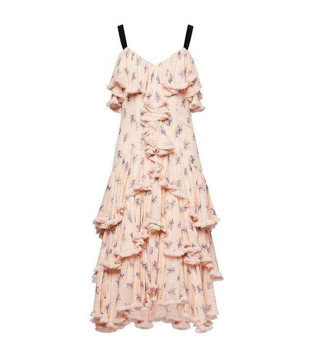 "<p>Edie dress, $417, <a href=""https://cinqasept.nyc/collections/dresses/products/edie-dress-in-pearl-blush"" rel=""nofollow noopener"" target=""_blank"" data-ylk=""slk:cinqasept.com"" class=""link rapid-noclick-resp""> cinqasept.com</a> </p>"