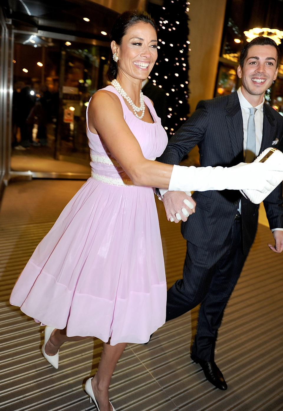 Melanie Sykes and boyfriend Jack Cockings attend the Hearts and Minds charity ball at Hilton Hotel on November 25, 2012 in Manchester, England.  (Photo by Shirlaine Forrest/WireImage)