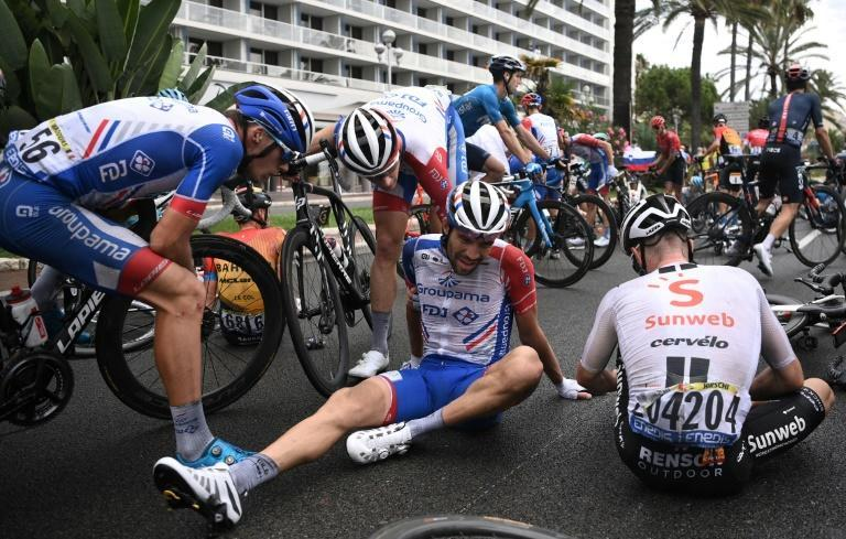 Frenchman Thibaut Pinot fell in Nice, costing him form on the Tour and the Vuelta