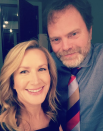 "<p>Dwight and Angela forever! ""Looky who I found backstage at @teamcoco,"" <em>The Offic</em>e star captioned this shot with her former onscreen love, Rainn Wilson. ""We are on tonight on @tbsnetwork."" (Photo: <a rel=""nofollow noopener"" href=""https://www.instagram.com/p/BcBNnPlhzH5/?taken-by=angelakinsey"" target=""_blank"" data-ylk=""slk:Angela Kinsey via Instagram"" class=""link rapid-noclick-resp"">Angela Kinsey via Instagram</a>) </p>"