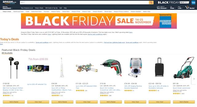 Amazon Black Friday Sales 2016 Day One 39 S Deals