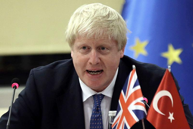 """British Foreign Minister Boris Johnson -- who has Turkish ancestors -- described Turkey as """"the land of my fathers"""" (AFP Photo/Adem Altan)"""