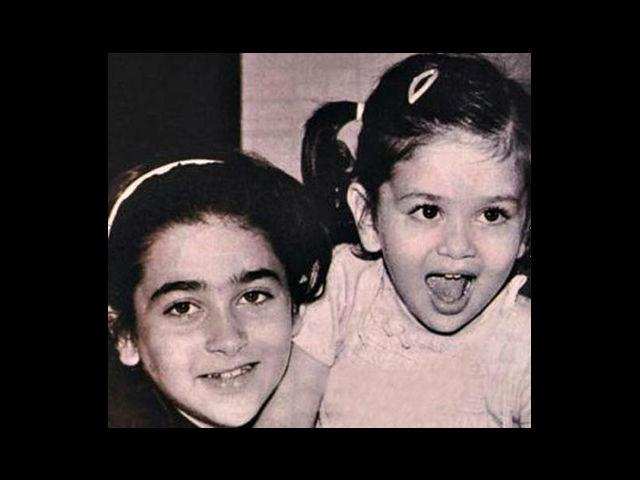 8. The Kapoor girls – Karishma and Kareena, as kids. Weren't they adorable? Born on 25th June, 1974 and 21st September, 1980 respectively – Karishma studied at the Cathedral and John Connon School and Kareena at Jamnabai Narsee School in Mumbai.