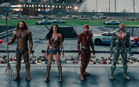 Aquaman, Wonder Woman, The Flash and Cyborg. aka the Justice League