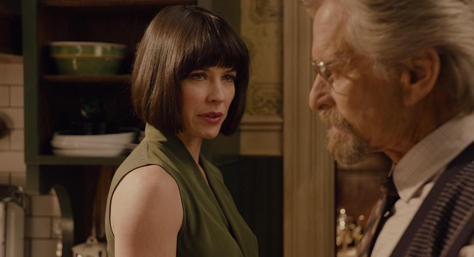 Hank (Michael Douglas) and his daughter Hope (Evangeline Lilly) have an antagonistic relationship in the first film