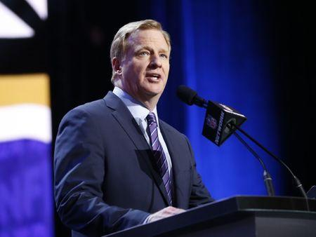 Apr 28, 2016; Chicago, IL, USA; NFL commissioner Roger Goodell announces the draft picks in the first round of the 2016 NFL Draft at Auditorium Theatre. Mandatory Credit: Kamil Krzaczynski-USA TODAY Sports  / Reuters  Picture Supplied by Action Images