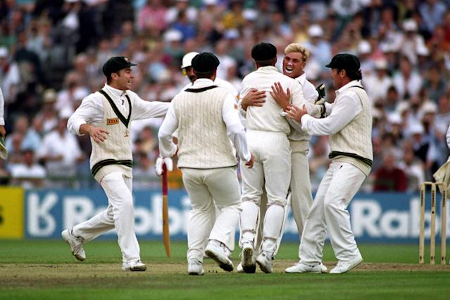 <p>Ball of the century: Shane Warne bowled Mike Gatting with his first ball against England in 1993<br></p>