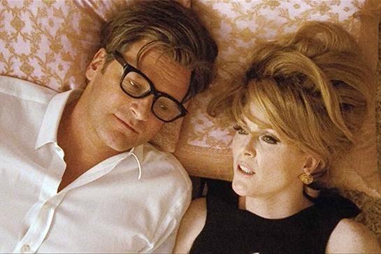 """<em><strong><h3>A Single Man</h3></strong></em><h3> (2009)<br></h3> Tom Ford's screen adaptation of Christopher Isherwood's novel is far and away the most sexed-up title on this list. However, it's sexier than the rest because Tom Ford has his hand in every bit of this film. Everything from the styling, set design, soundtrack, and coloring is sleek. This is eye candy.<br><br><span class=""""copyright"""">Photo: Courtesy of The Weinstein Company.</span>"""