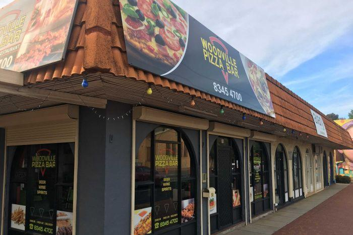 The frontage of Woodville Pizza Bar.