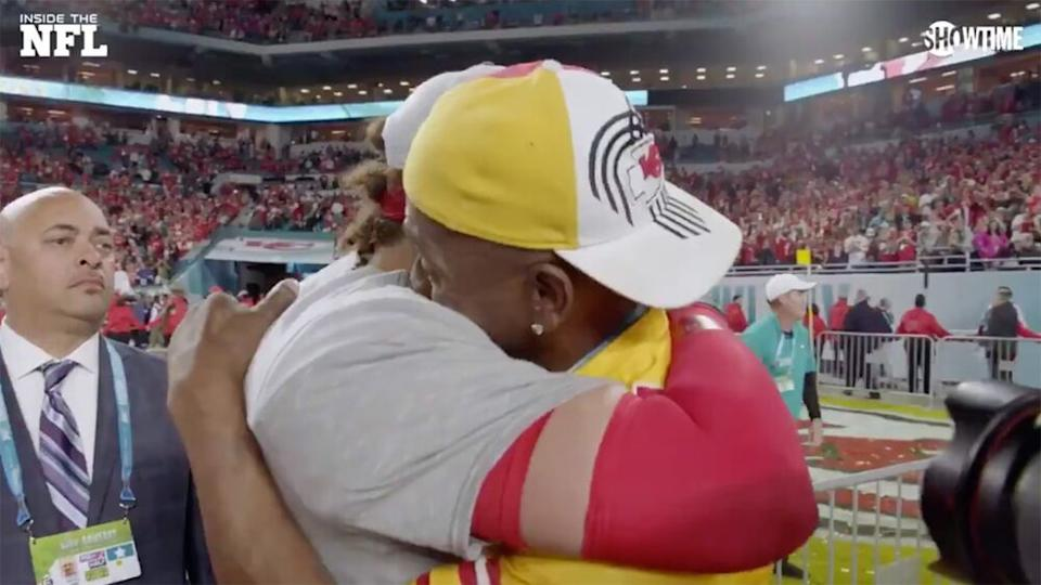 Patrick Mahomes Shares Emotional Embrace with His Dad ...