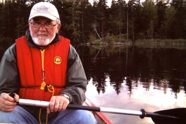 Wilfred Nicholson built cedar strip canoes in his home shop.  (Submitted by Ron Vincent - image credit)