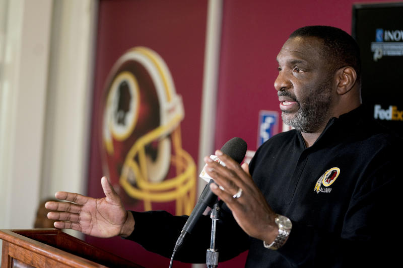 Doug Williams will have a movie made about his life story. (AP Photo/Andrew Harnik)
