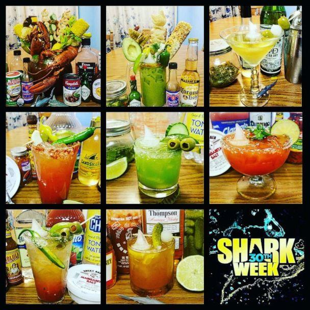 PHOTO: A collage of cocktails created by Sara Biesek for Shark Week 2018. (Sara Biesek )