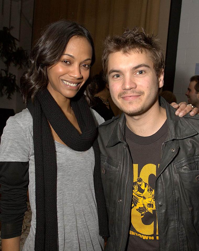 "Co-hosts Zoe Saldana and Emile Hirsch were on a mission to raise funds for the quake-ravaged country at the ""Have a Heart for Haiti"" fundraiser on Wednesday night. ""Give whatever you can, but f---ing give something, I know we can do it!"" Saldana told the crowd at the event. Jeff Vespa/<a href=""http://www.wireimage.com"" target=""new"">WireImage.com</a> - February 3, 2010"
