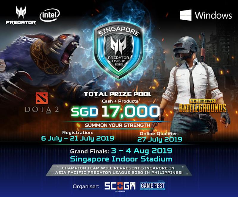 Acer Predator League 2019 Singapore qualifiers