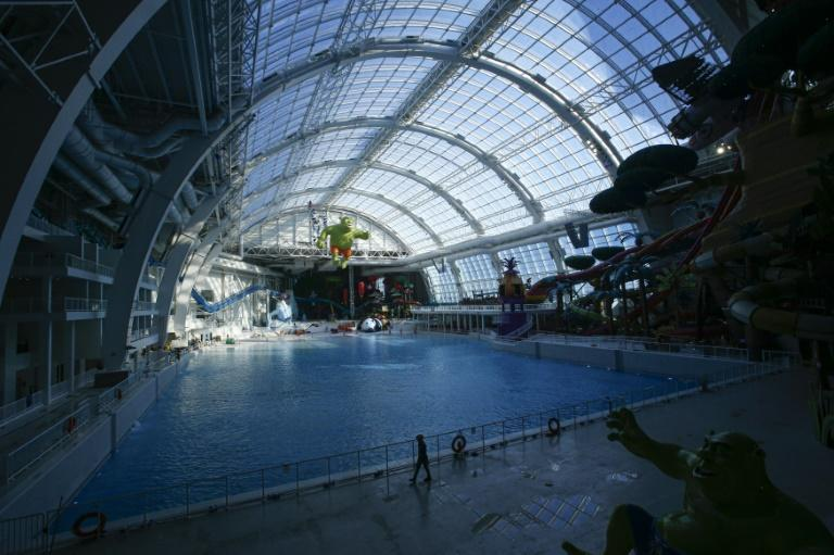 The Dream Works Water Park is still under construction at the American Dream mall in New Jersey (AFP Photo/Kena Betancur)