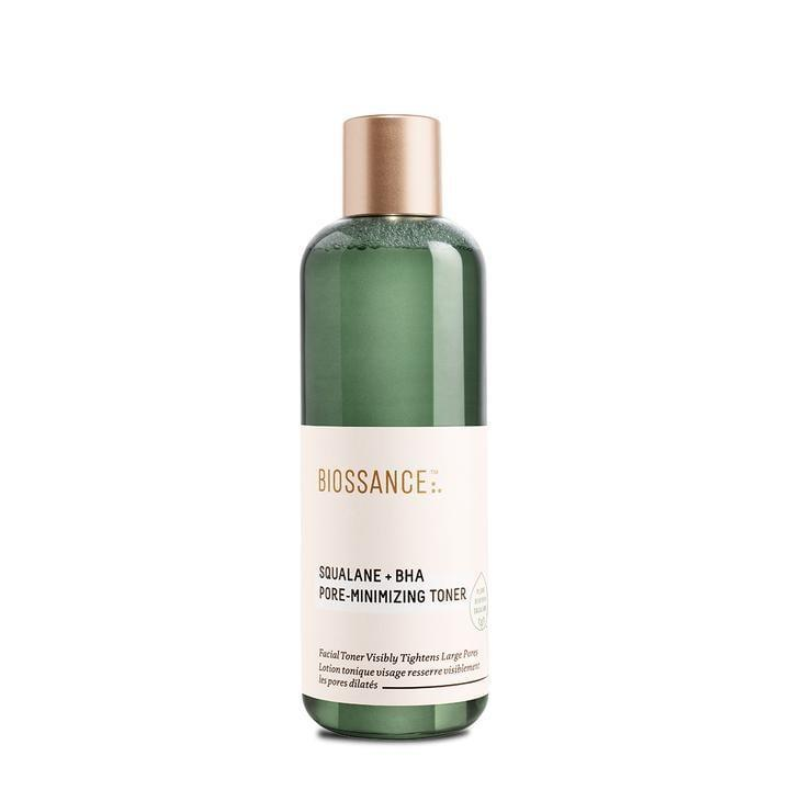 <p>Apply some of the <span>Bioassance Squalane + BHA Pore Minimizing Toner</span> ($28) onto a cotton pad, and swipe it over your skin to get the benefits of gentle, pore-clearing chemical exfoliation. It also contains squalane, which helps hydrate the skin. </p>