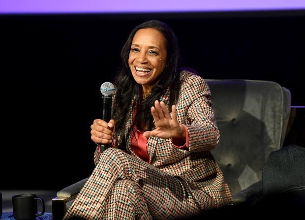 Michelle Cole during the 'In Conversation: The Spirit And Style Of Grown-ish With Yara Shahidi and Michelle R. Cole' panel at <em>SCAD aTVfest 2020</em>.