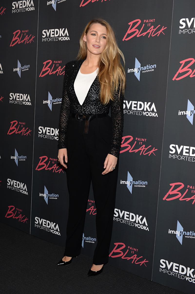 """Blake Lively attends the """"Paint It Black"""" New York premiere. (Andrew Toth via Getty Images)"""