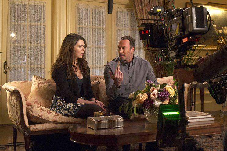 Graham, Scott Patterson filming at Emily's (Credit: Netflix)