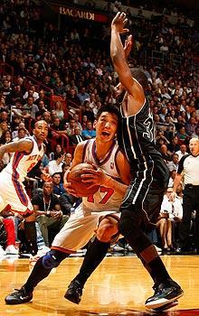 Jeremy Lin's eight turnovers against the Heat matched his eight points. He made one shot