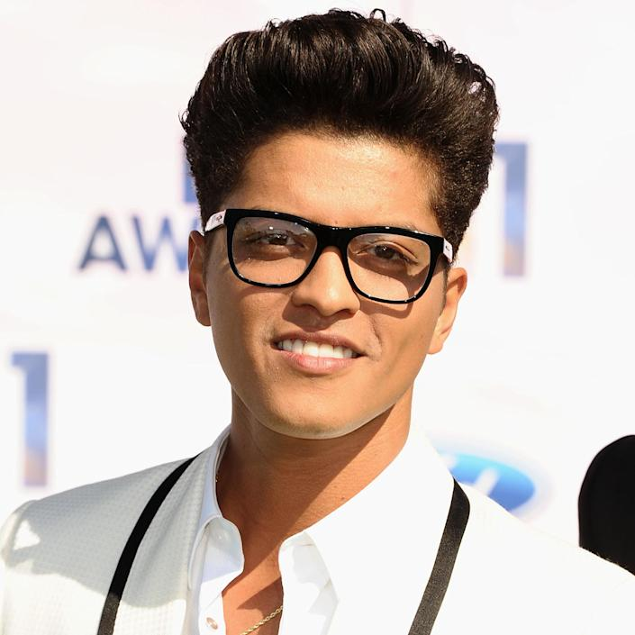 <p>Mars looked hipster-cool on the BET Awards Red Carpet, where he was nominated for Best New Artist.</p>