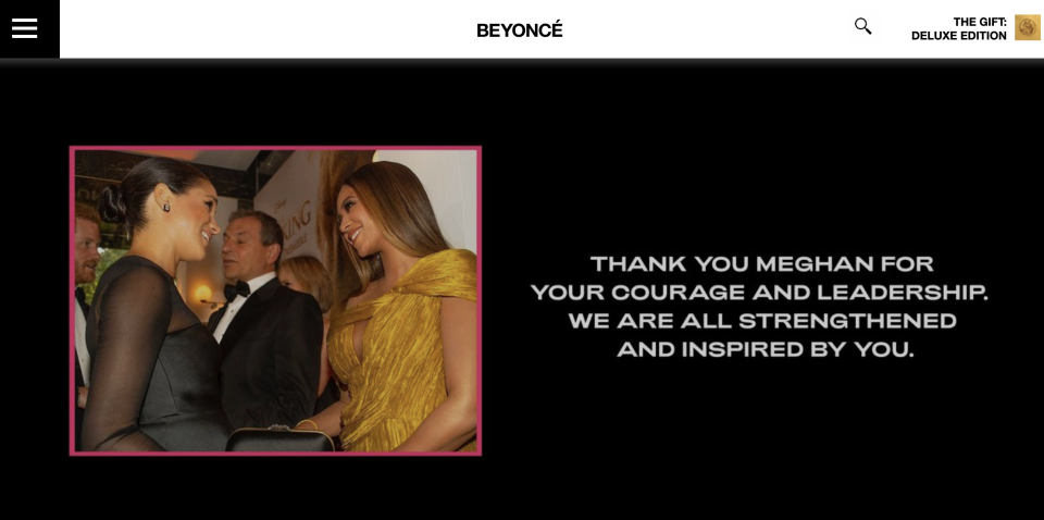 (Screenshot: Beyoncé)