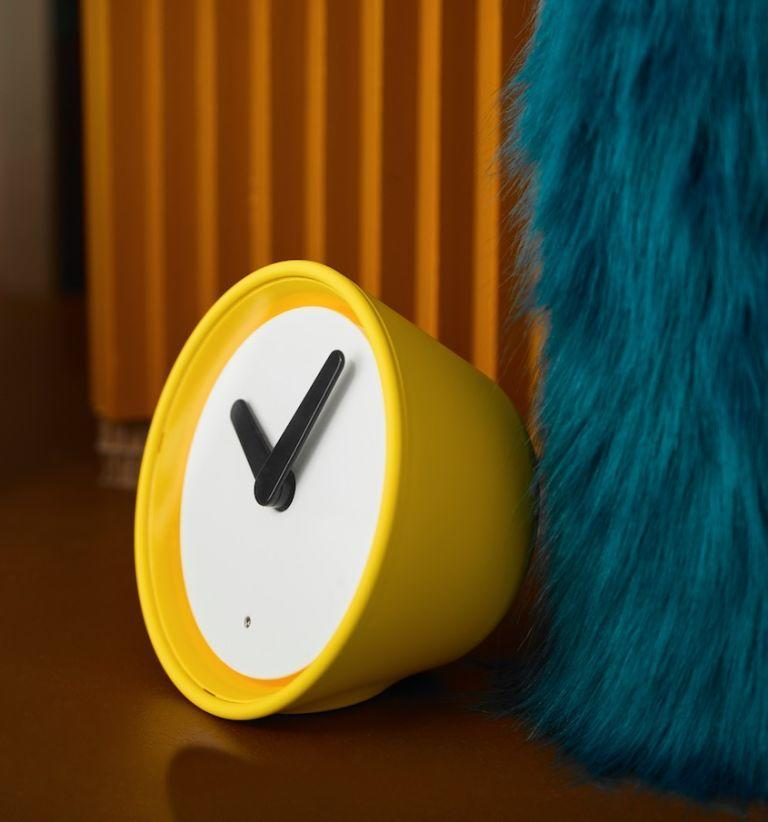 <p>A sunny way to wake up each morning, the STOLPA clock has a a built-in touch sensor. The yellow table clock illuminates the outer ring for a few seconds when touched, making it perfect for the bedside table. All clocks at Ikea now come with a silent quartz movement, which means no disturbing ticking sounds!</p><p><strong><em>STOLPA clock, £12</em></strong></p>