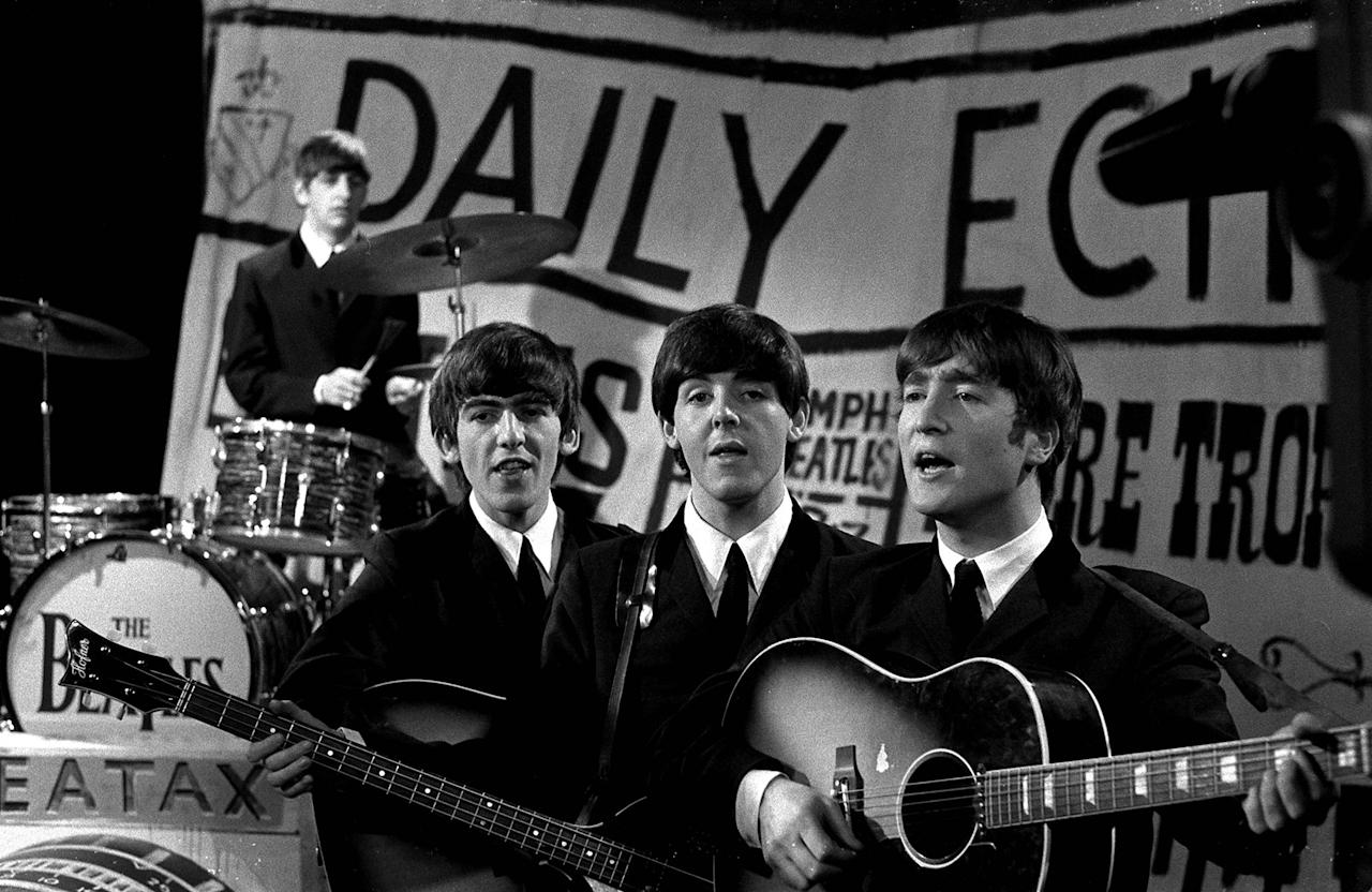 """<p>In the beginning, when they were at the height of their heartthrob status, the Beatles were the picture of clean cut, with slim-fit suits and skinny ties. These are the boys who sang, ever-so-chastely, """"I want to hold your hand.""""</p>"""