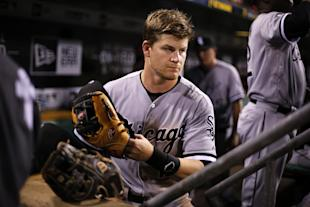 Gordon Beckham and his hair. (AP Photo/Gene J. Puskar)