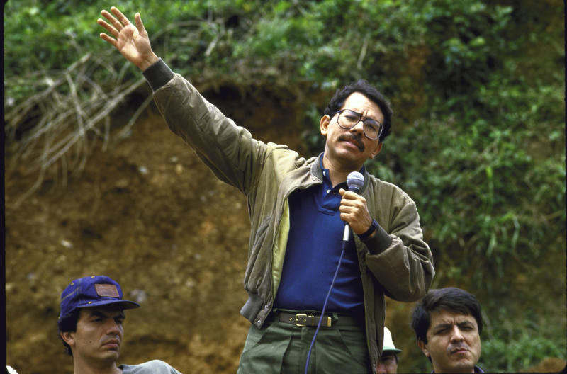Pres. Daniel Ortega Saavedra (C), speaking in regards to the contra attacks. (Photo by Cindy Karp/The LIFE Images Collection via Getty Images/Getty Images)