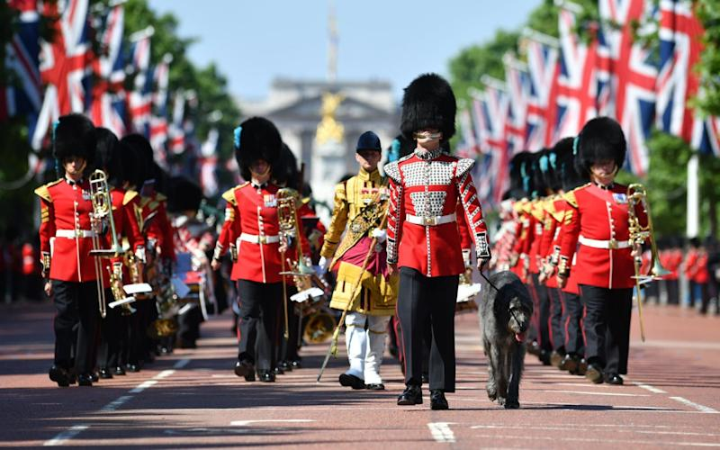 Royal Guard marching during the Trooping of the Color Queen's 91st birthday parade - Credit: British ministry of defence
