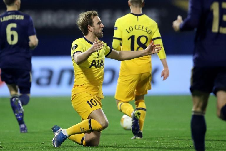 Crestfallen: Harry Kane could not save Spurs from an embarrassing Europa League exit to Dinamo Zagreb