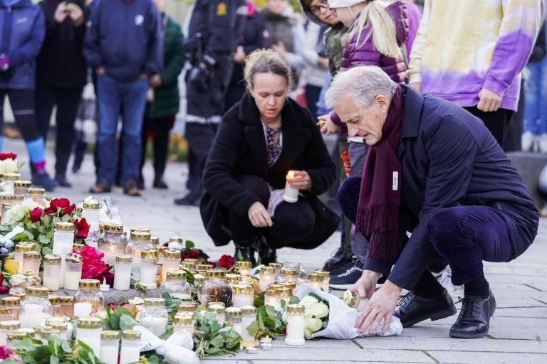 """Norway's Prime Minister Jonas Gahr Store, who took office on Thursday, said """"we stand together when crisis strikes"""" (AFP/Terje Bendiksby)"""