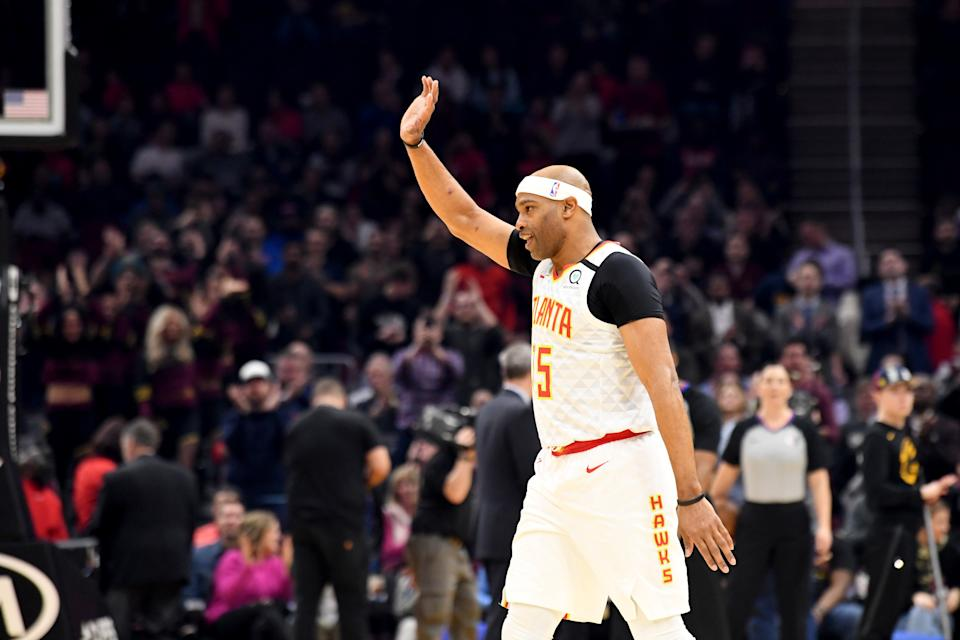 Vince Carter is retiring after 22 years, 8 teams, and 25,728 points scored. (Photo by Jason Miller/Getty Images)