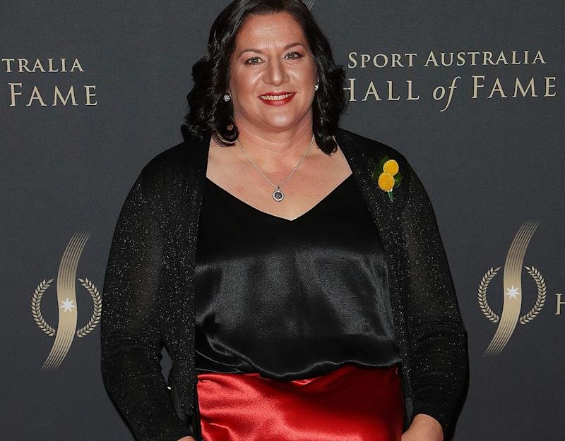 Louise Sauvage, pictured here at the Sport Australia Hall of Fame Induction and Awards Gala Dinner.