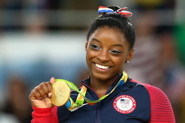 Simone Biles, seen here in Rio in 2016, will be one of the most notable American faces in Tokyo. (Getty)