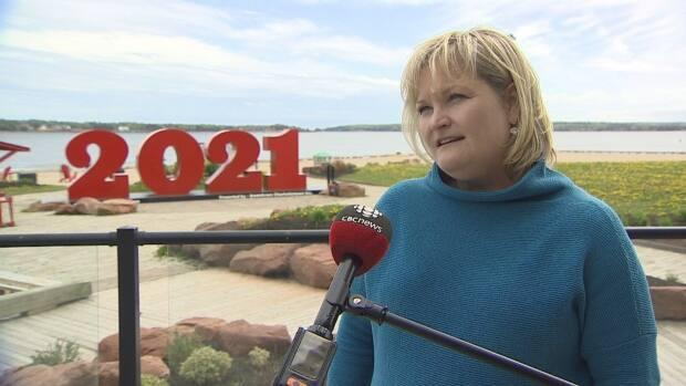 'Today is a good day for tourism,' says Tracey Singleton, owner of Bosom Buddies Cottages and Suites in Cavendish.