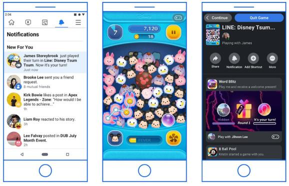 Facebook Instant Games are migrating from Messenger to Facebook.