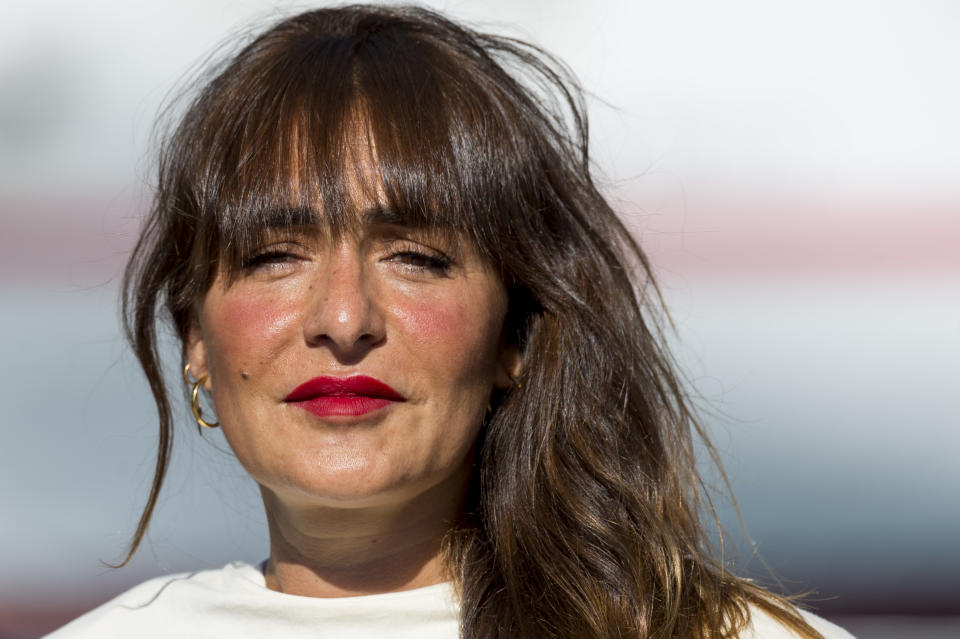MALAGA, SPAIN - AUGUST 23: Spanish actress Candela Peña attends 'Black Beach' photocall at Muelle Uno during 23rd Malaga Spanish Film Festival on August 23, 2020 in Malaga, Spain. (Photo by Juan Naharro Gimenez/Getty Images)